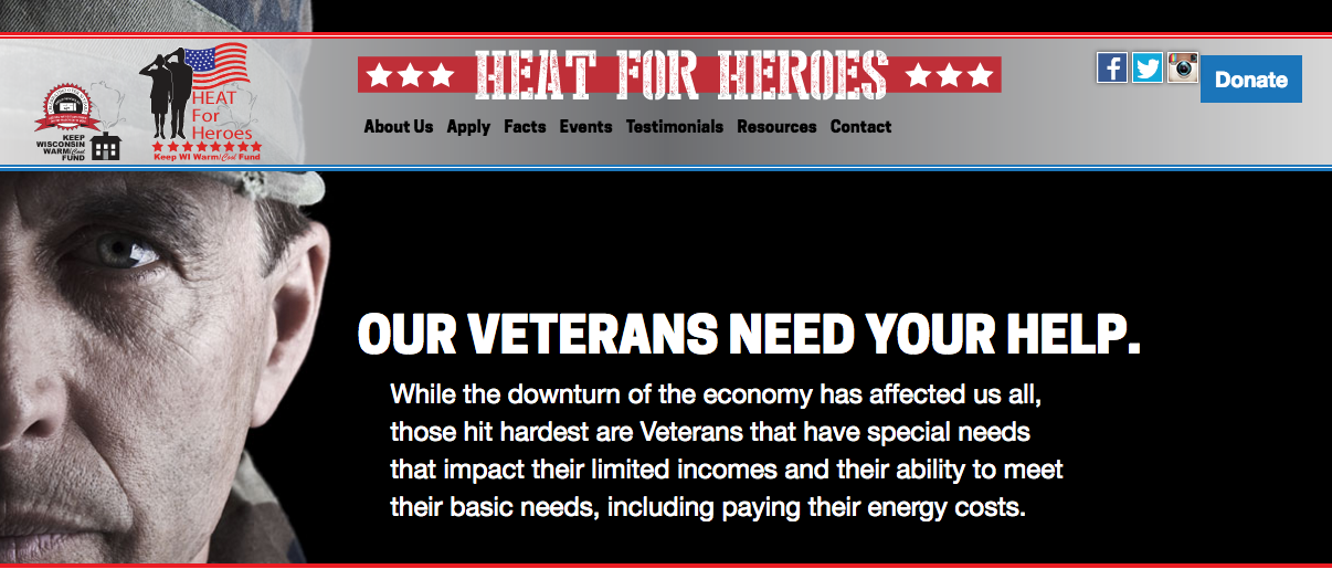 Screen capture of Heat 4 Heroes website