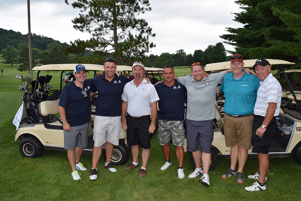 Several participants in the 2016 Keep Wisconsin Warm/Cool Fund golf outing
