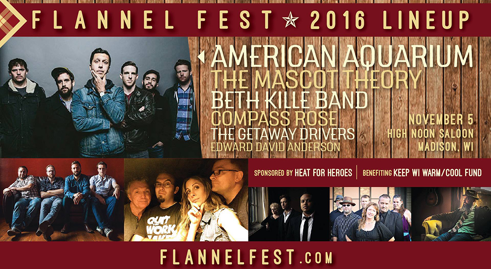 Promotional poster for Flannel Fest